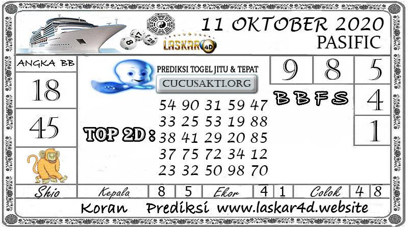 Prediksi Togel PASIFIC LASKAR4D 11 OKTOBER 2020