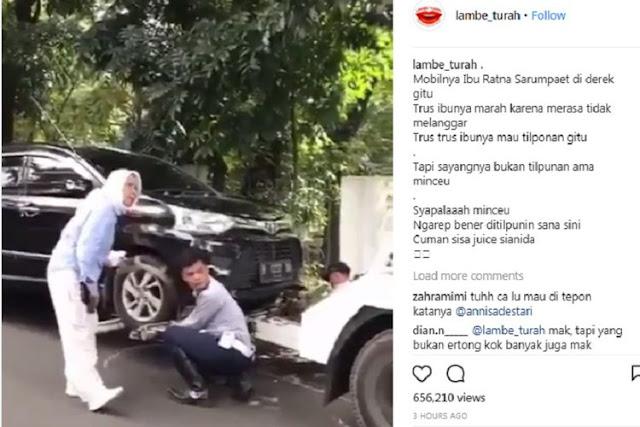 Heboh! Ratna Sarumpaet 'Ngamuk' Kena Derek, Lalu Telpon Anies, Hebat! Mobilnya Langsung Diantar Pulang Dishub ke Rumah...