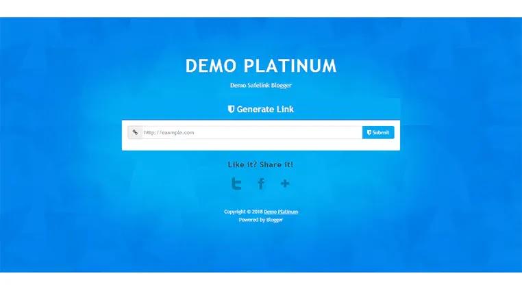 Free 3 Template Blogger Safelink terbaik otomatis postingan