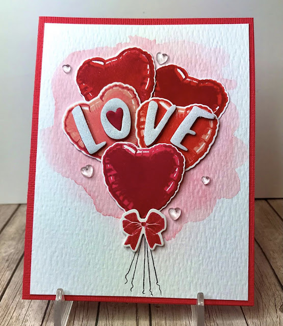 Sunny Studio Stamps: Bold Balloons Customer Card by Mary Lou Marshall