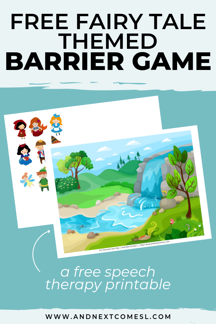 Free speech therapy barrier game: fairy tale themed