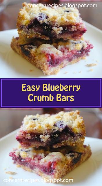 Easy Blueberry Crumb Bars
