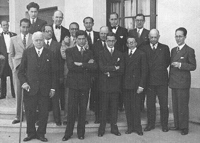Participantes en el Torneo de Ajedrez de Sitges, 1934