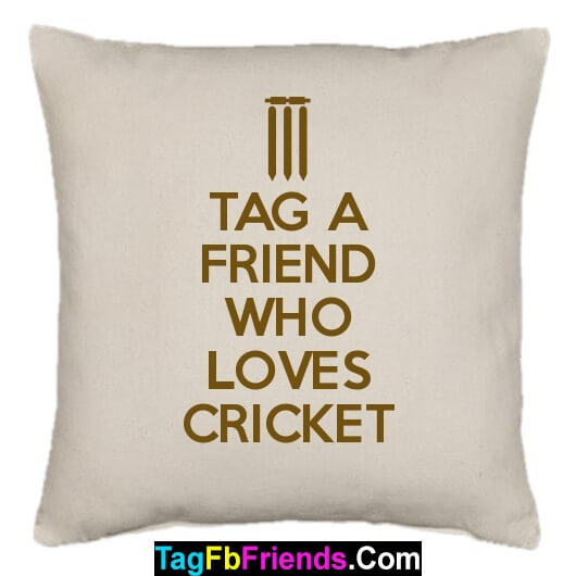 Tag a friend who likes Cricket very much.