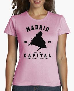 camisetas para mujer, varios modelos. Ciudades