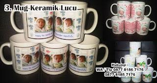 Mug Keramik Lucu merupakan salah satu souvenir kelahiran anak yang unik dan bermanfaat