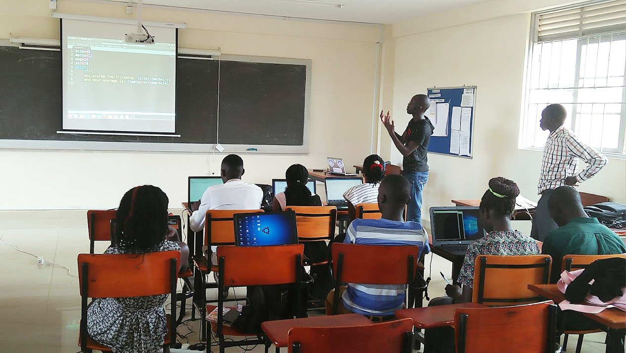 Image of developers in classroom