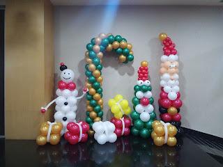 Balon dekorasi tema natal