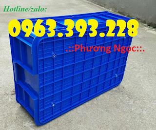 Thùng nhựa đặc HS003, thùng nhựa cao 19, thùng đặc chứa đồ 308d50e50a16e848b107