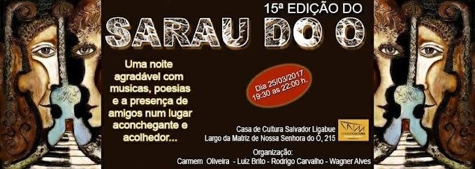Monahyr Campos estará presente na 15ª edição do Sarau do Ó