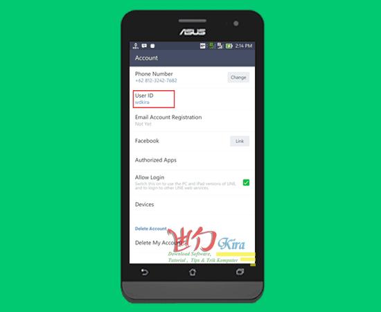 Wd-Kira, Cara membuat User Id Line baru yang baik dan benar serta mudah agar gampang dan mudah untuk menambahkan teman pada aplikasi line Messanger