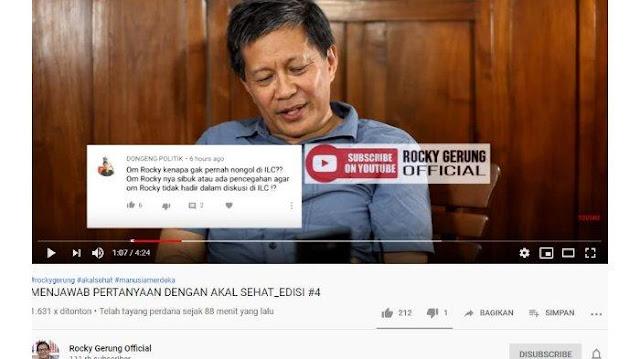 Jawaban Rocky Gerung saat Disingung Jadi Menteri dari Prabowo dan Alasan Tak Muncul di ILC