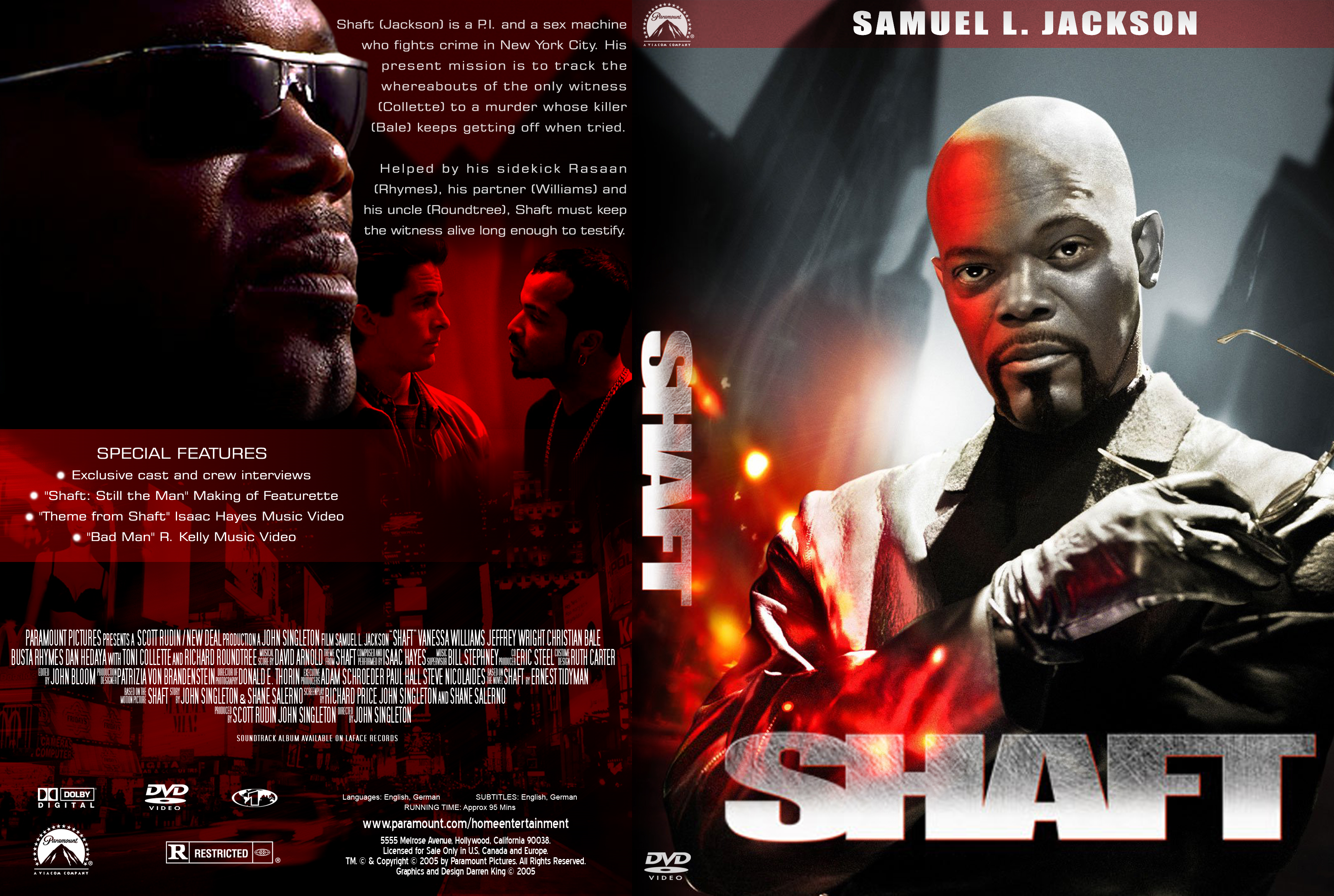 Movie Posters 2000: Shaft (2000) DVD Cover