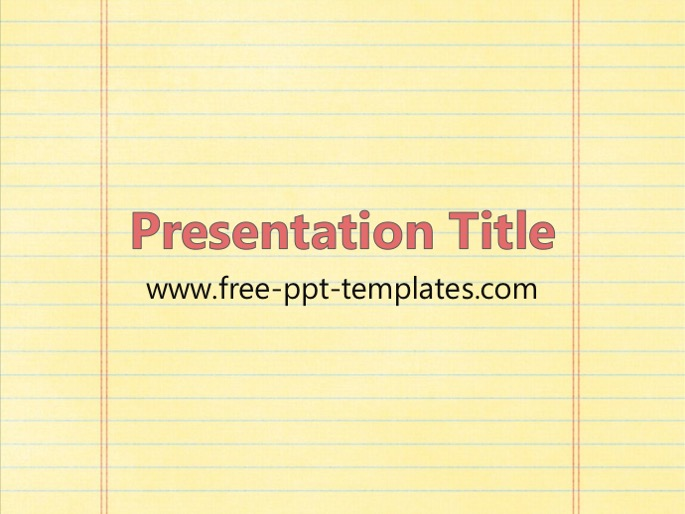 notebook paper ppt template, Powerpoint templates