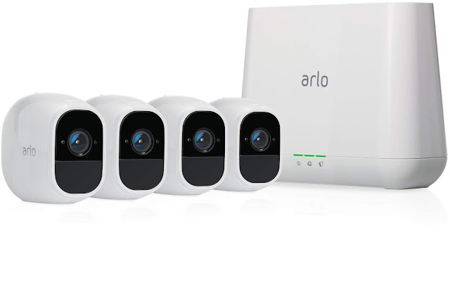 Arlo Pro 2 - Wireless Home Security Camera System with Siren | Rechargeable, Night vision, Indoor/Outdoor, 1080p, 2-Way Audio, Wall Mount | Cloud Storage Included | 4 camera kit