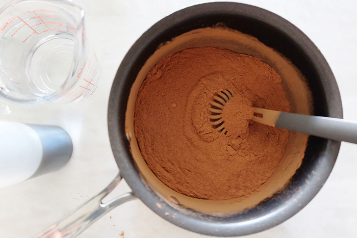 the dry ingredients whisked
