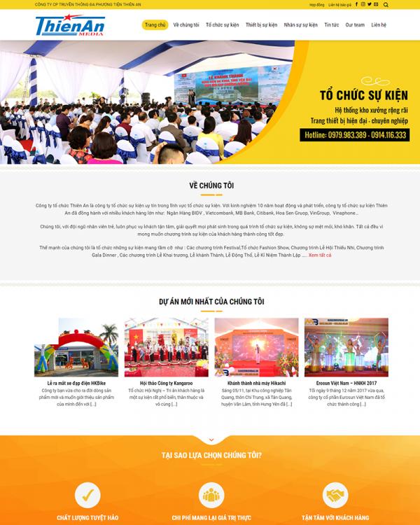 Mẫu Web Event 6