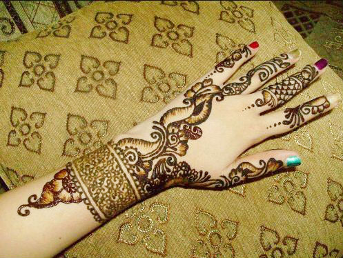 Latest Flower Mehndi Design : Latest arabic mehndi designs lagao