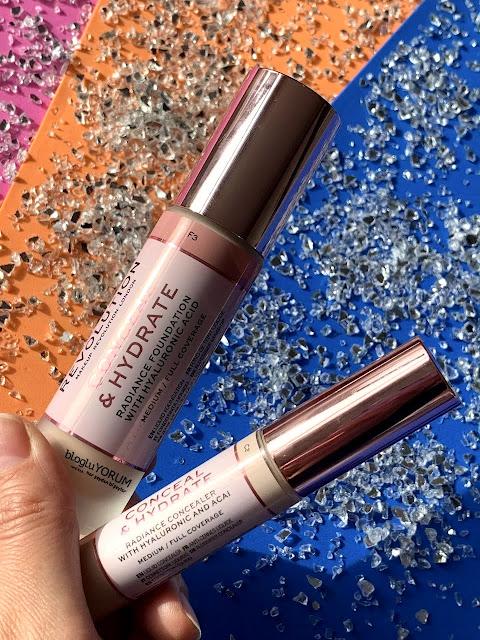 makeup revolution conceal hydrate fondöten f3 conceal hydrate kapatıcı c2