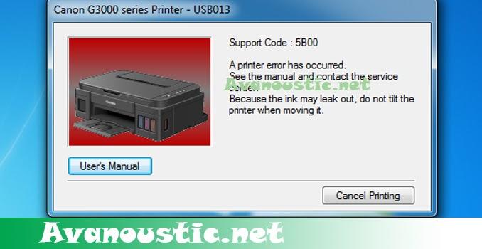 Tips And Trik Atasi Printer Canon G1000 G2000 G3000 Dan G4000 Error 5b00 Tanpa Software Resetter Dokter Printer