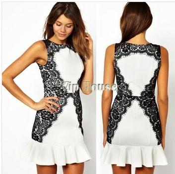 vestido branco de babado
