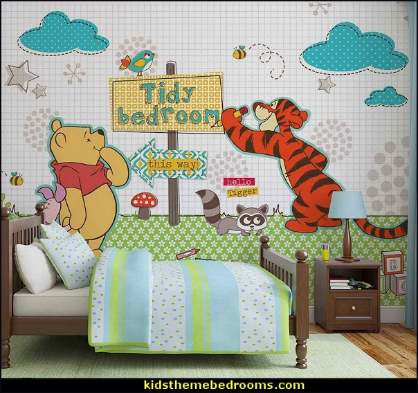 winnie pooh mural Winnie The Pooh design photo wall mural winnie bedroom wall decorating winnie pooh