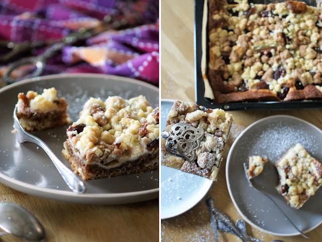 Marmor Zwetschgenkuchen mit Pudding und Streuseln