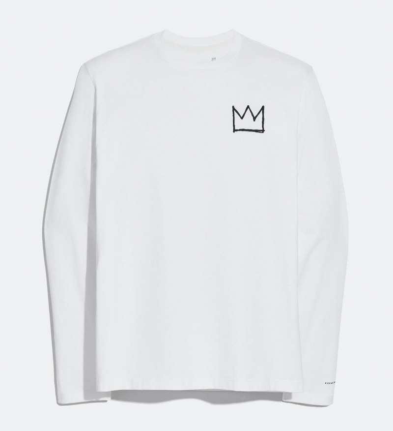 Coach x Jean-Michel Basquiat Long Sleeve T-Shirt in White