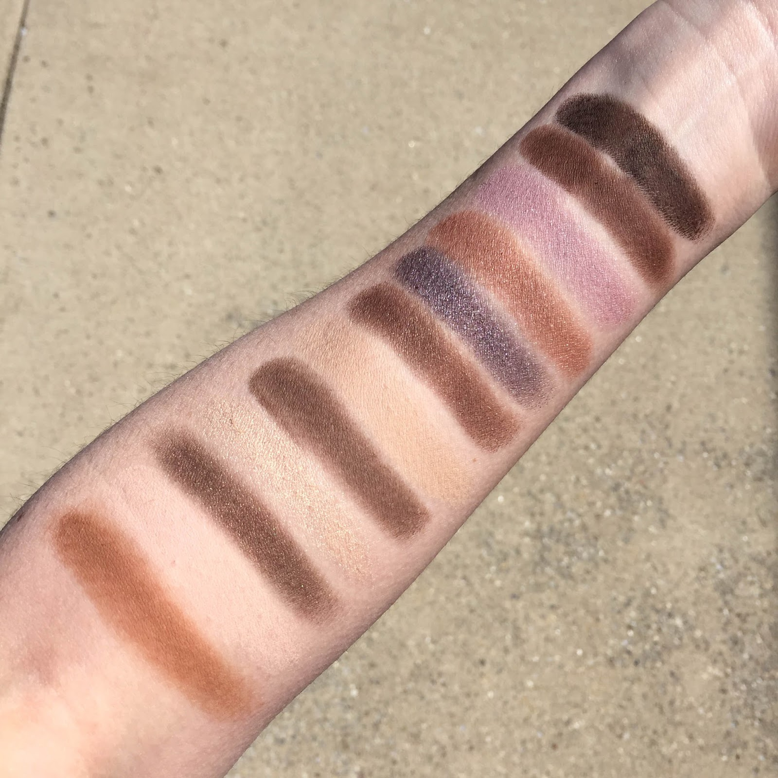 Laura Mercier Extreme Neutrals palette with swatches on fair skin