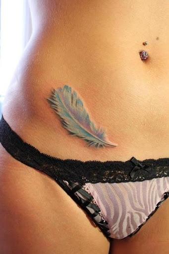 Uma tatuagem tao leve como uma pena