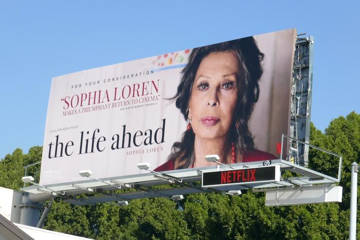 Sophia Loren Life Ahead consideration billboard