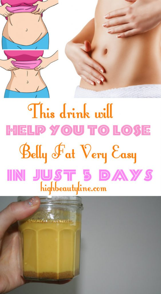 This Drink Will Help You To Lose Belly Fat Very Easy In Just 5 Days