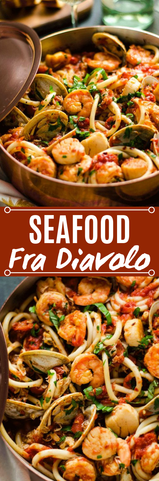 Seafood Fra Diavolo #dinner #seafood