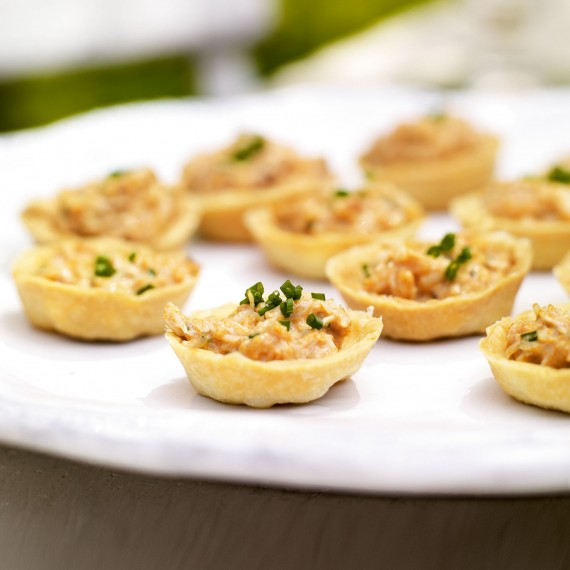 Christmas starter - Fresh Crab Tartlets with Lemon Mayonnaise with recipe link