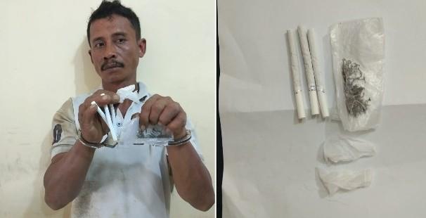 Polisi Grebek Rumah Pengedar Ganja di Dolok Kabupaten Serdang