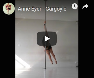 Pole Dance Gargoyle force souplesse training trick.