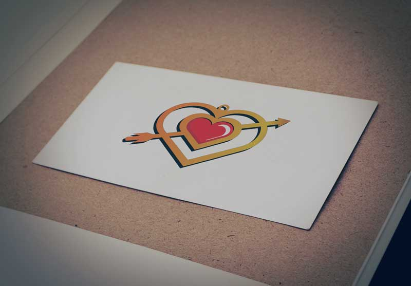 Download Free Heart Shaped Necklace Logo for Business