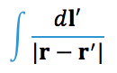 The integral needed to calculate the electric field induced during magnetic stimulation.