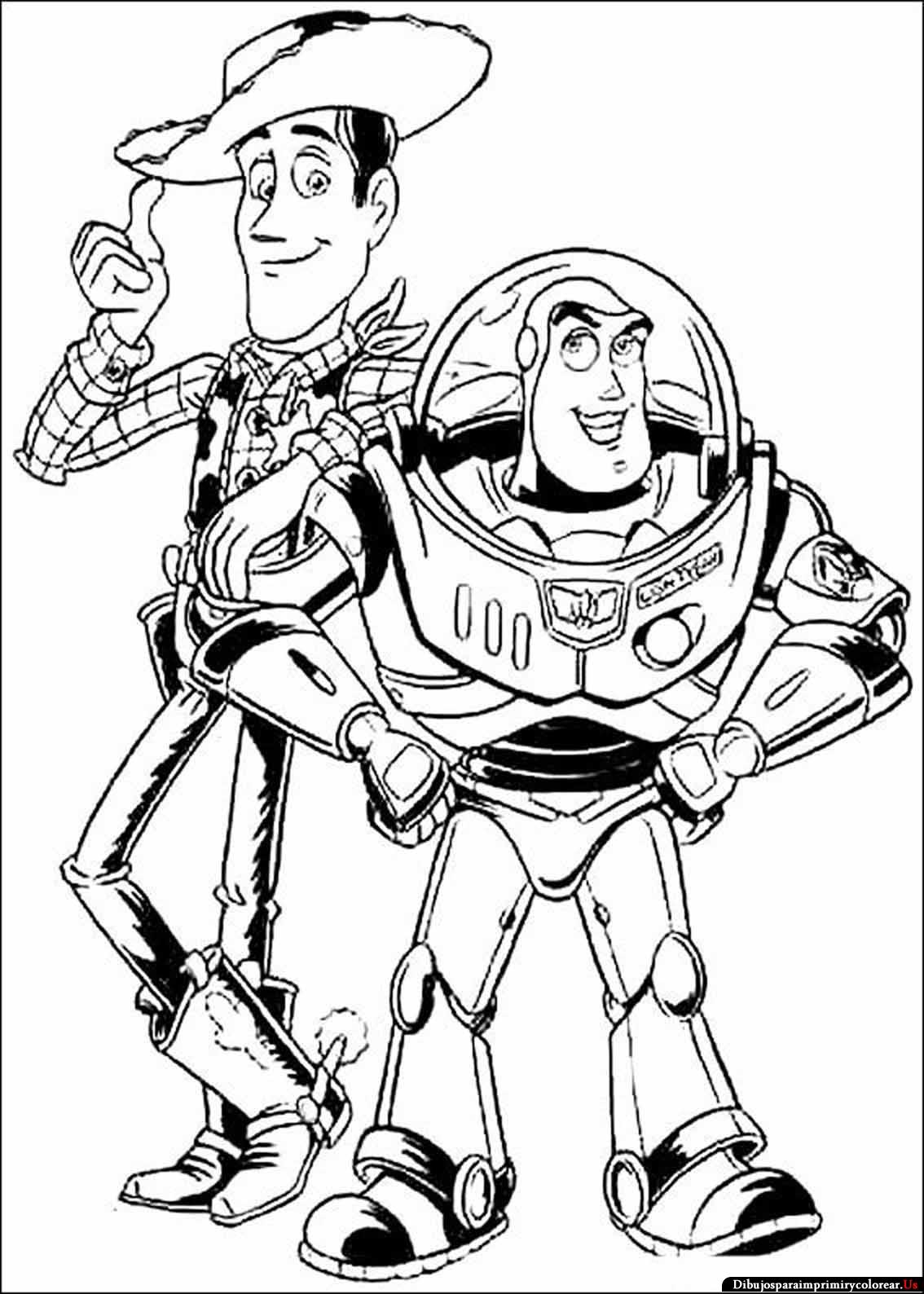 Dibujos de Toy Story para Imprimir y ColorearWoody And Buzz Drawing