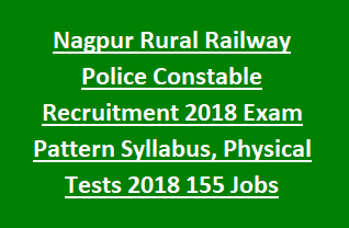 Nagpur Rural Railway Police Constable Recruitment 2018 Exam Pattern Syllabus, Physical Tests 2018 155 Jobs Apply Online