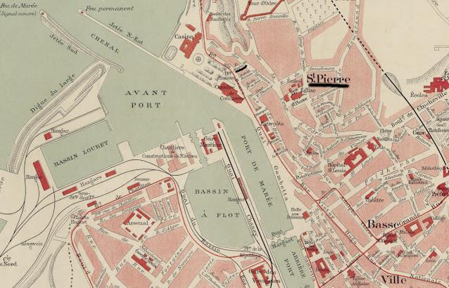 Plan de Boulogne-sur-Mer
