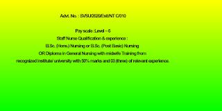 GNM, B.Sc or Post B.Sc Nursing jobs in Shri Vishwakarma Skill University