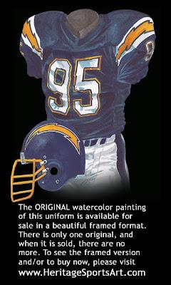San Diego Chargers 1987 uniform