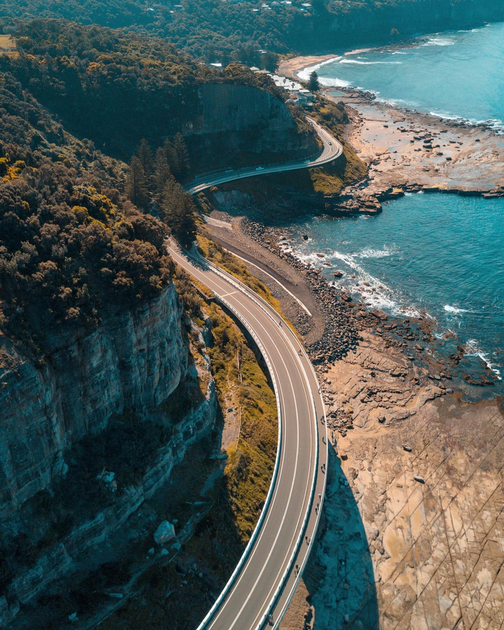 Traveling Around Australia in a Short Time - Sea Cliff Bridge, Australia