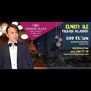 Crowne Plaza Hotels Antalya Yılbaşı Programı 2020 Menüsü