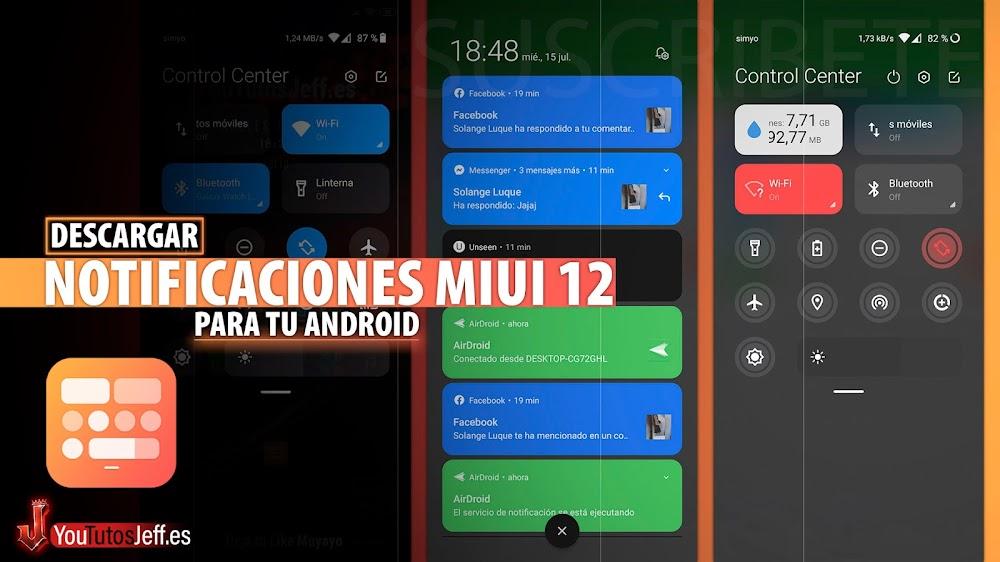 Descargar Barra de Notificaciones MIUI 12 en tu Android