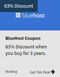 Bluehost dicount 63% off