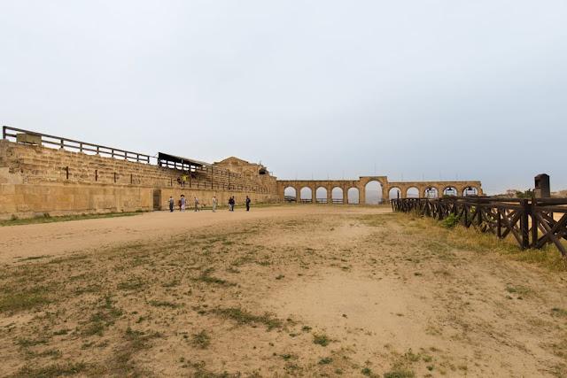 Grada del hipódromo romano de Jerash