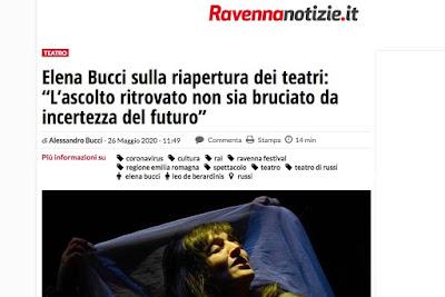 https://www.ravennanotizie.it/cultura-spettacolo/2020/05/26/elena-bucci-sulla-riapertura-dei-teatri-lascolto-ritrovato-non-sia-bruciato-da-incertezza-del-futuro/?fbclid=IwAR3j6eAdf_qFv-rWD-LlHCrd90J8yqFu815xp2Dnomj-NuIX2G_TSdyY4fQ