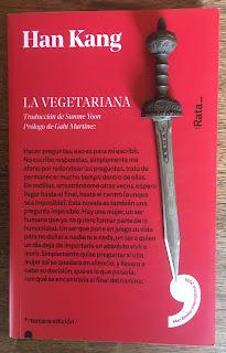 Portada del libro La vegetariana, de Han Kang